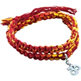 fourseven 925 Sterling Silver & Moli Threads | Wrap Around Moli Bracelet with Om Charm