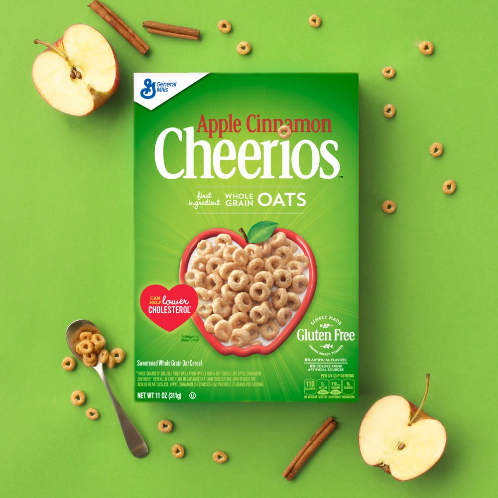 Apple Cinnamon Cheerios Gluten Free, Cereal, Family Size, 20.10 Oz < Cereals < Grocery & Gourmet Food - tibs