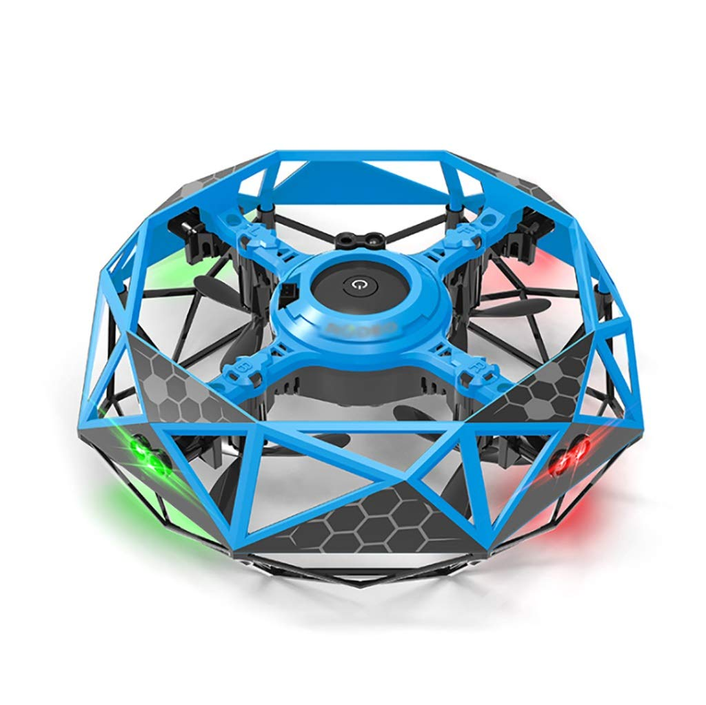 UFO Flying Ball Toys, Infrared Induction Interactive Drone Indoor Flyer Toys with 360° Rotating and LED Lights for Kids, Gravity Defying Hand-Controlled Suspension Helicopter Toy (Color : A) by Odors