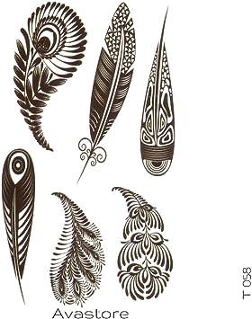 Tatuaje Temporal Plumas de pavo real de avastore: Amazon.es: Belleza