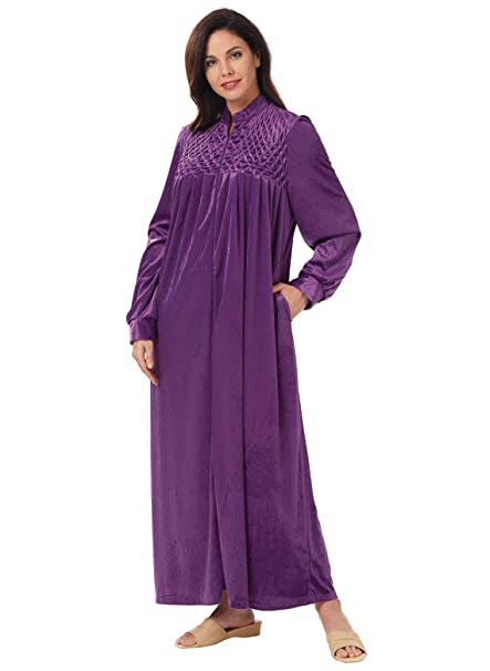 Long Zip-Front Robe 2e757de64
