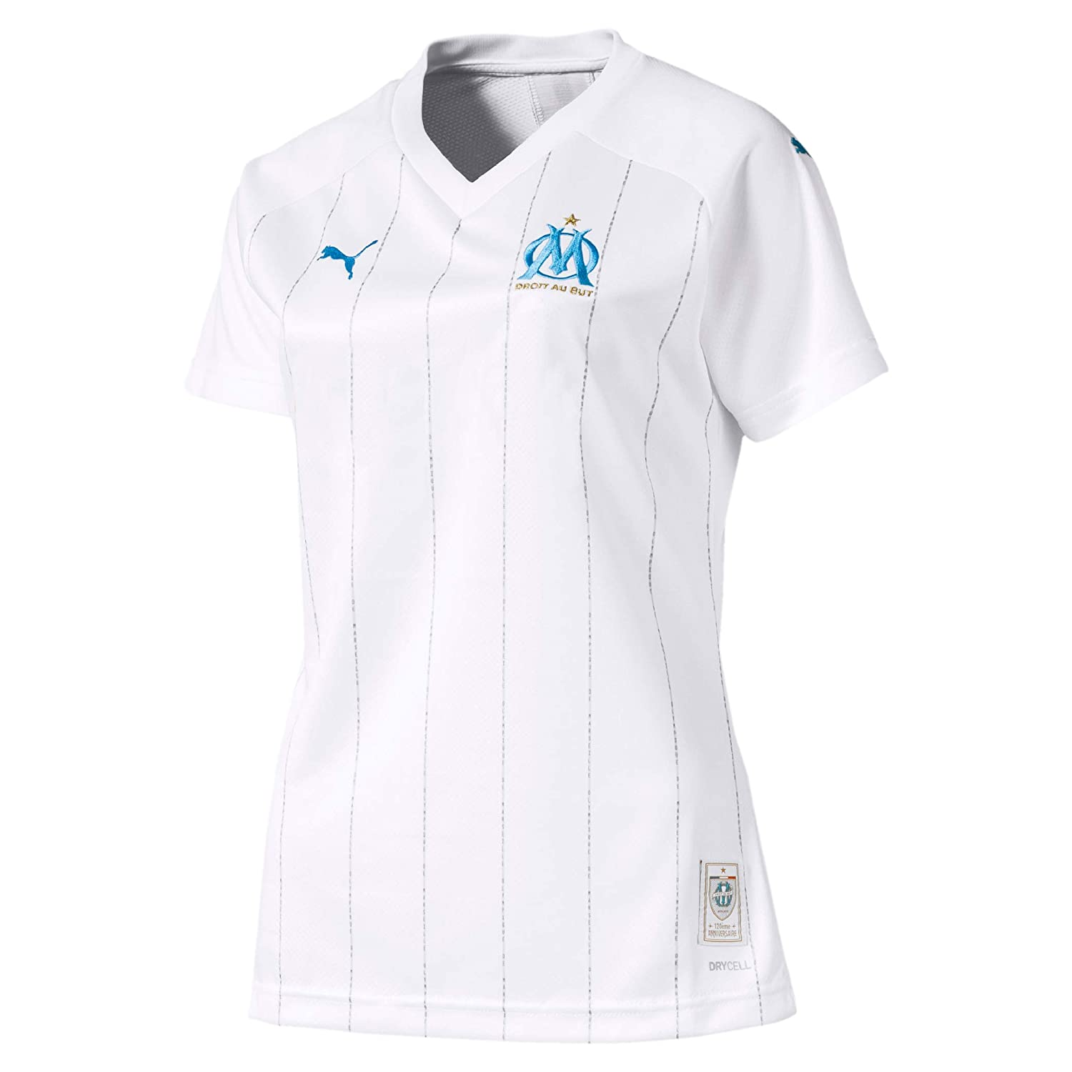 new product 7f7b7 d5931 PUMA 2019-2020 Olympique Marseille Home Ladies Football Soccer T-Shirt  Jersey