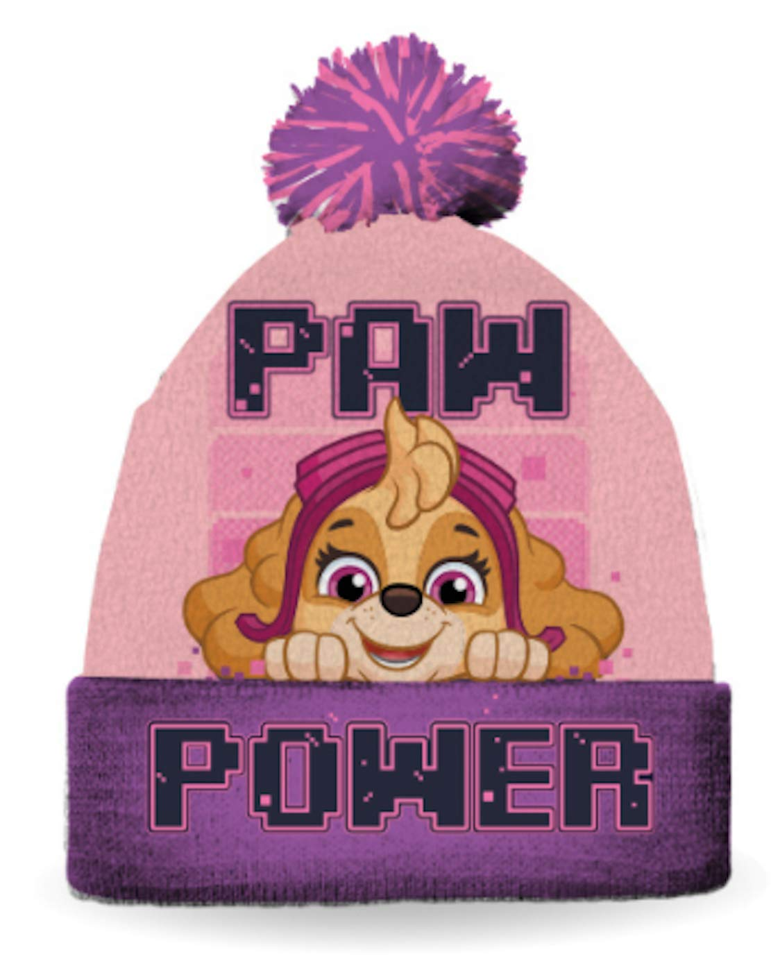 Paw Patrol Girls Winter Hat Size Size 4-6X Hat and Glove Set Pink