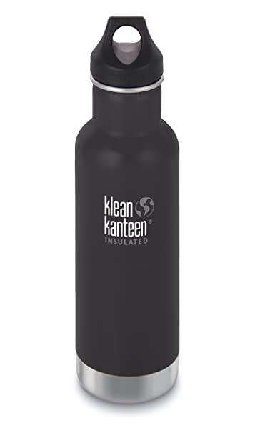 Klean Kanteen Classic Stainless Steel Water Bottle with Klean Coat, Double Wall Vacuum Insulated and Leak Proof Loop Cap 2018