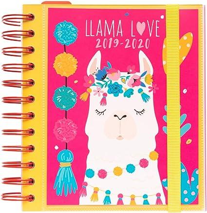 Agenda escolar 2019/2020 día página M Llama Lover: Amazon.es ...