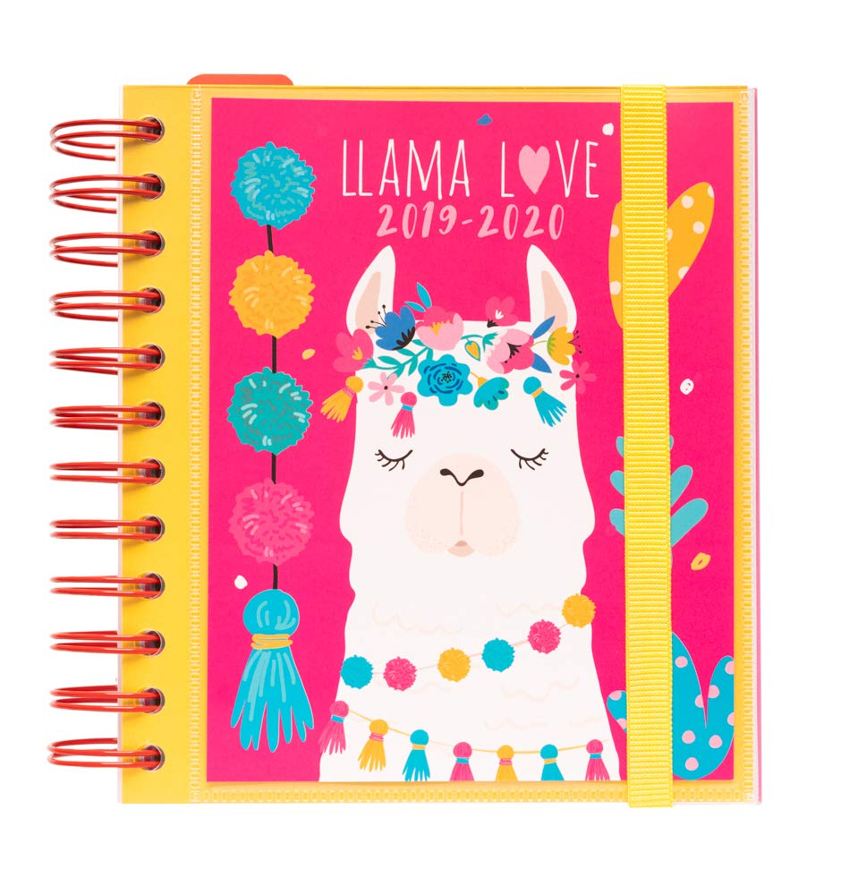 Amazon.com : School Agenda 2019/2020 Day Page M Llama Lover ...