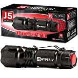 J5 Tactical - Hyper V Ultra Bright Tactical Flashlight - Black
