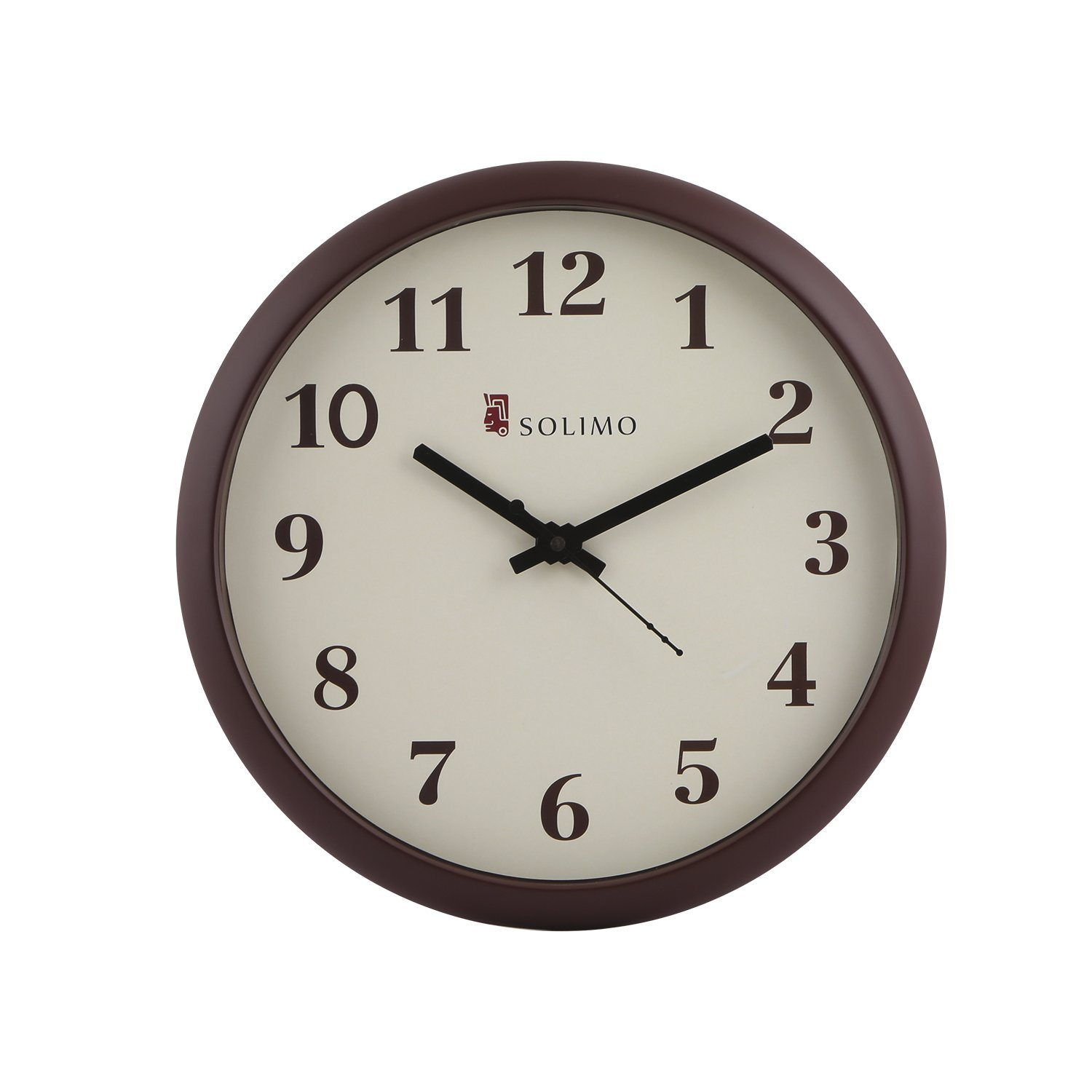 Wall clock buy wall clock online at best prices in india amazon solimo 11 inch wall clock step movement brown frame amipublicfo Gallery