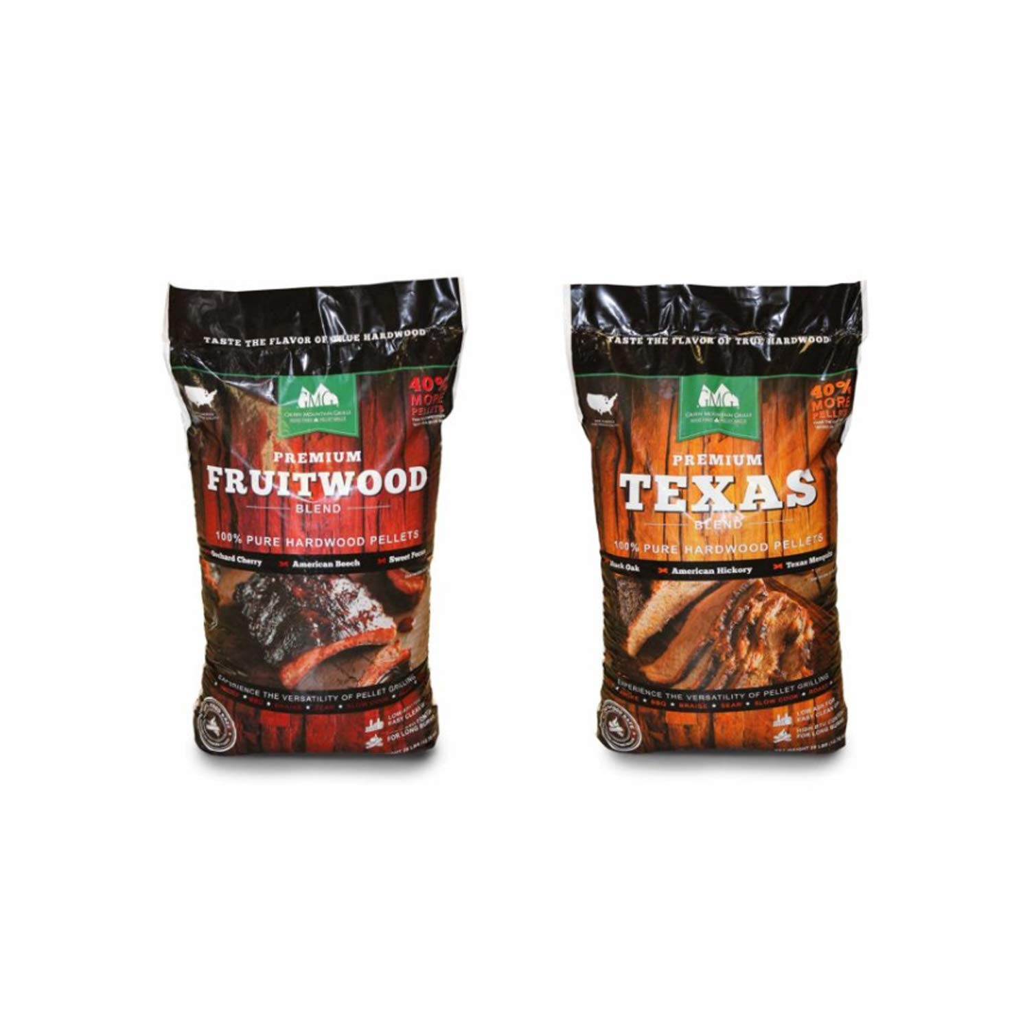 Green Mountain Grills Premium Texas & Fruitwood Hardwood Grill Cooking Pellets by Green Mountain Grills