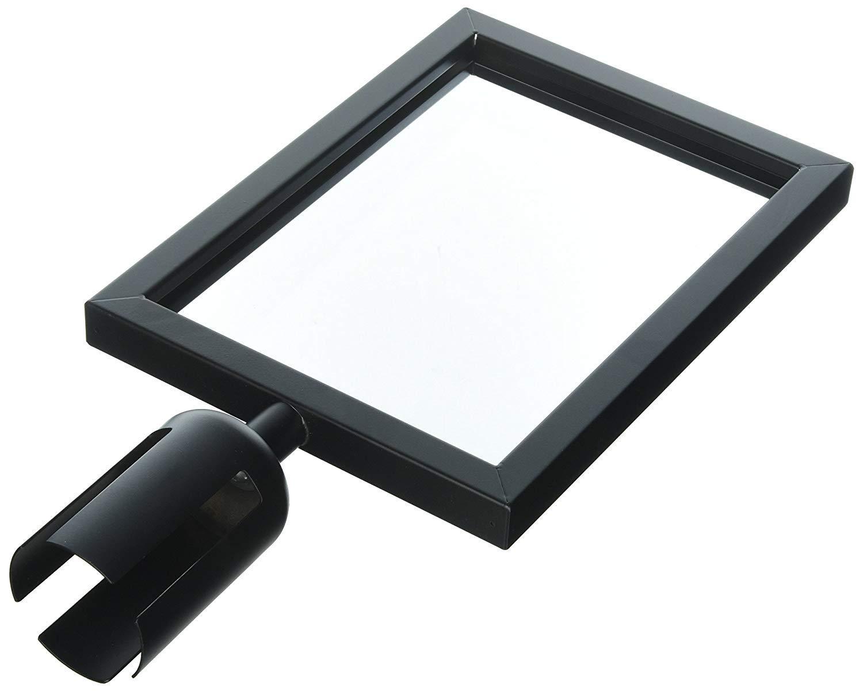 Update International Black Sign Frame for Stanchion Belt (4-Pack)