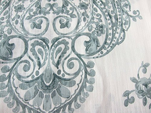 High Quality Nicole Miller Marchesa Paisley Medallion Pair Of Curtains In Grey Greenish  Gray Ivory Colors Medallion Print
