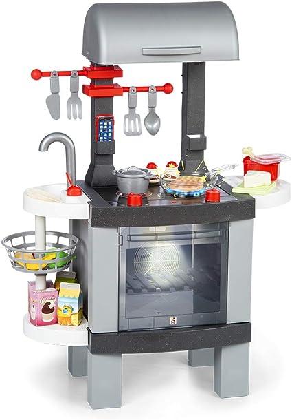 Chicos Cooking BBQ 2en1 Barbacoa Infantil con Efecto de Cocina Real: Los Alimentos cambian de Col...