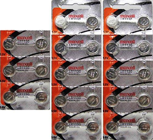 Maxell Alkaline Button - 26 LR1130 Maxell Alkaline Batteries Hologram