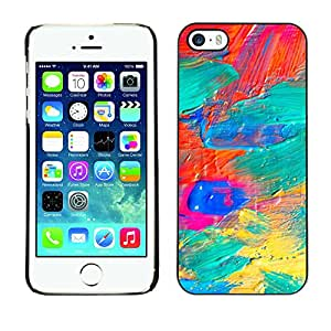 X-ray Impreso colorido protector duro espalda Funda piel de Shell para Apple iPhone 5 / iPhone 5S - Galaxy Oil Paint Vibrant Colors