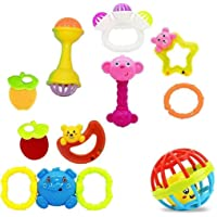 Jaynil® Colorful Flexible Attractive Non Toxic Rattle Set for Babies,Toddlers,Infants,Child