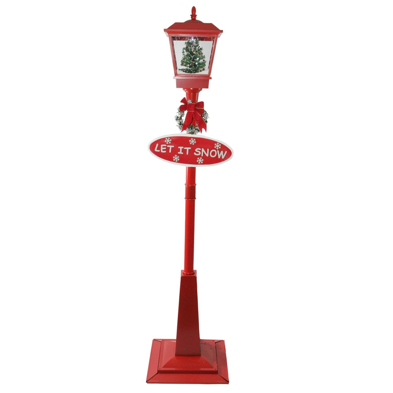 NORTHLIGHT R01733 Street Lamp and Christmas Tree Lantern, 70.75''