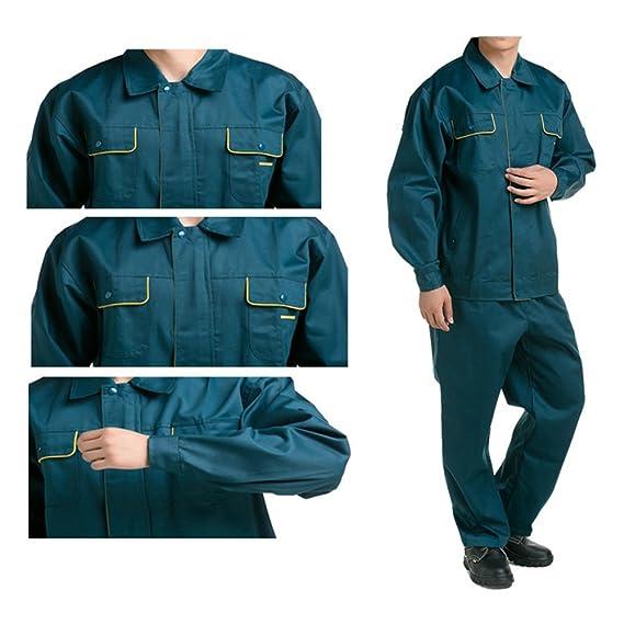 verde oscuro traje chaqueta de trabajo protección uniforme traje chaqueta soldador soldadura soldador ropa 190: Amazon.es: Ropa y accesorios