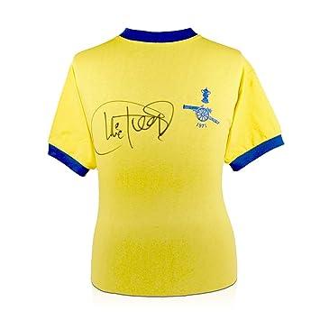 Camiseta del Arsenal (final de la FA Cup, firmada por Charlie George): Amazon.es: Deportes y aire libre