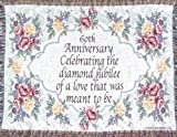 Jubilee Celebrations 60th Wedding Anniversary Sofa Throw - 60th Made...
