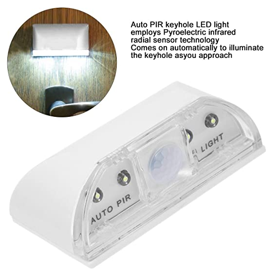 Ballylelly Lámpara de Escalera de Puerta de casa con Sensor de Movimiento por Infrarrojos y detección de Infrarrojos PIR: Amazon.es: Hogar