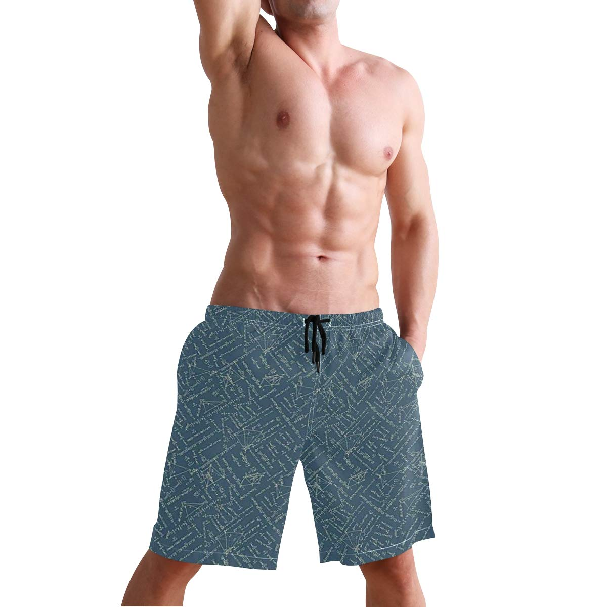 KVMV Science Class Themed Biology Chemistry and Physics Protons Neutrons Casual Swim Trunks All