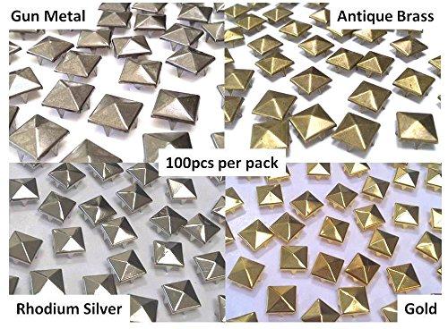 Buy gunmetal pyramid studs