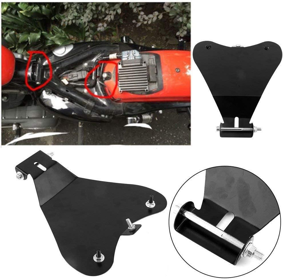 WASTUO Solo Plaque de Base Si/ège Moto 11.8 X 10.2 Support Protection pour Selle de Moto en Acier Robuste pour Sportster XL883 1200