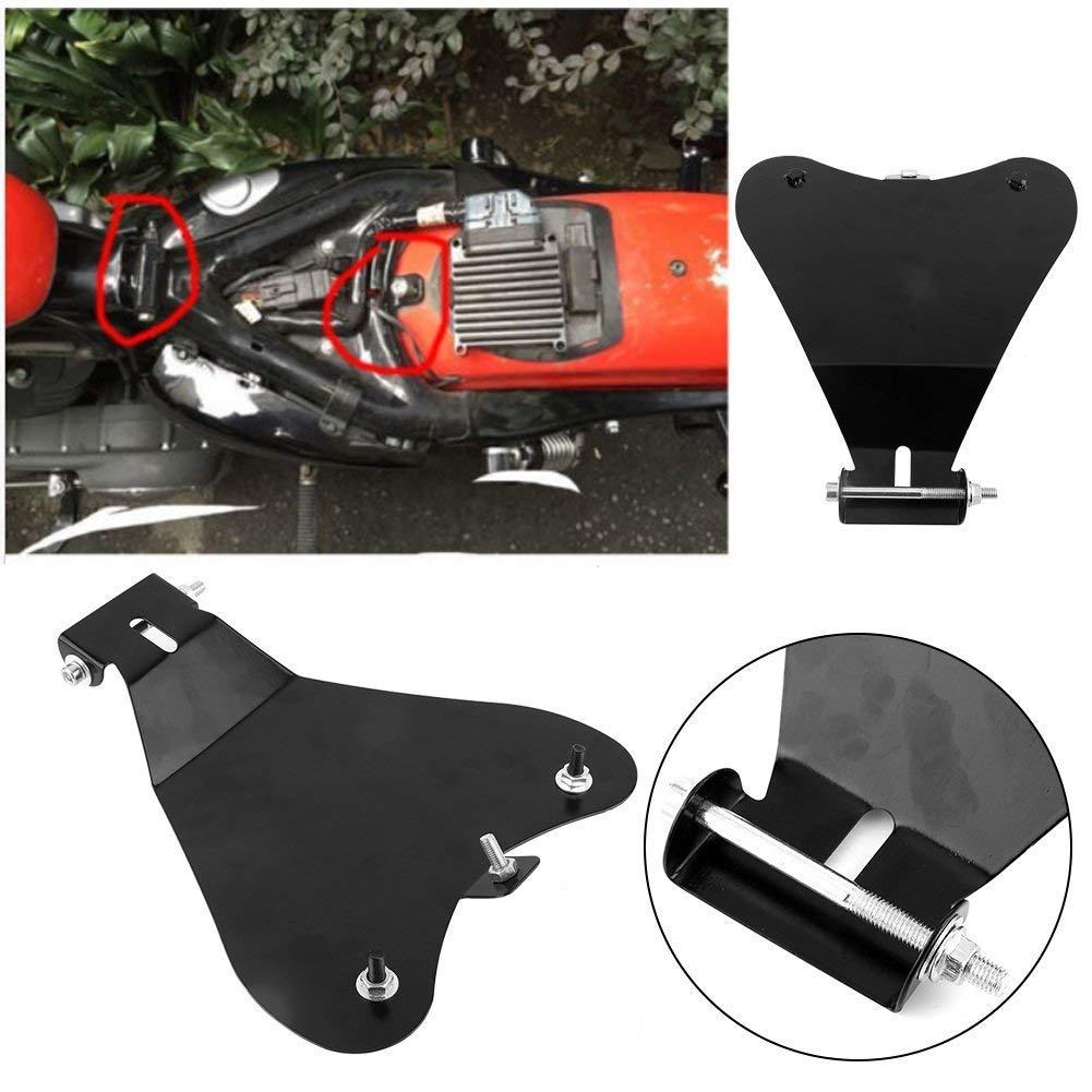 WASTUO Solo Plaque de Base Siè ge Moto 11.8' X 10.2' Support Protection pour Selle de Moto en Acier Robuste pour Harley Sportster XL883 / 1200