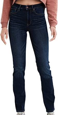 American Eagle Womens 2129413 Ne X T Level Slim Straight Jean Darkness Falls 4 X Long At Amazon Women S Jeans Store