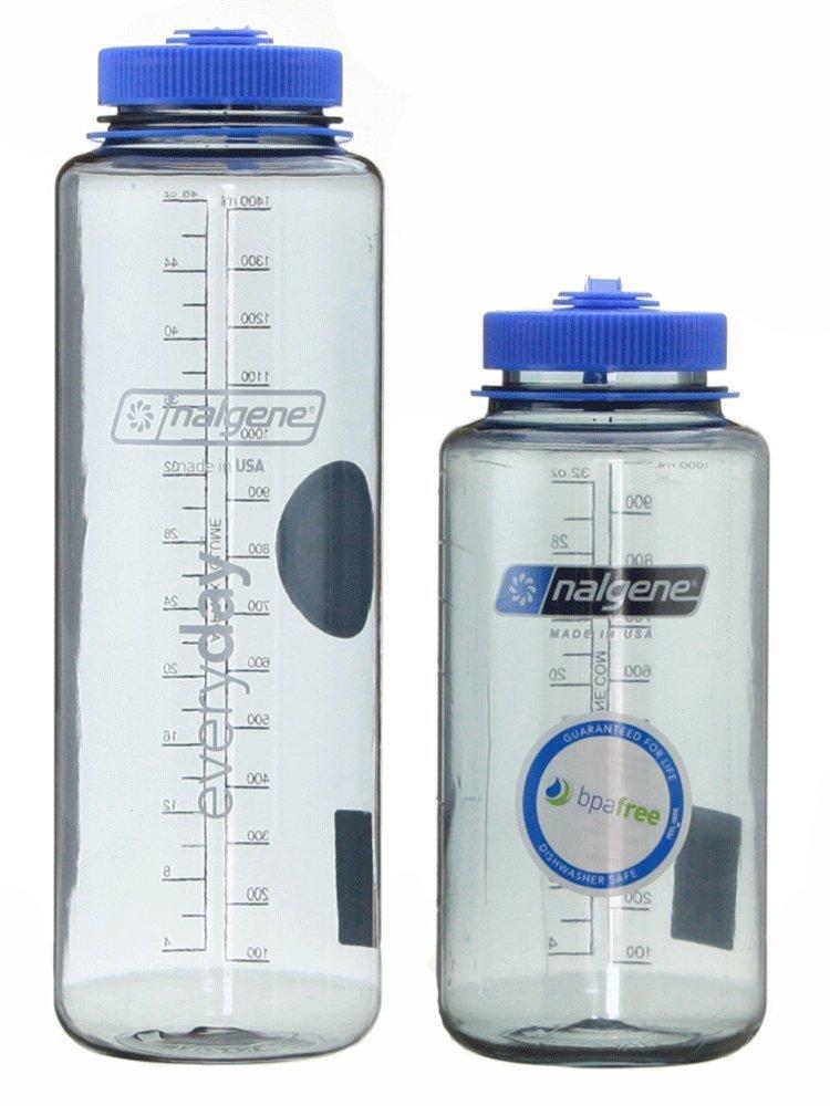 Clear W  bleu Cap  Nalgene Tritan Bouteille d'eau Combo Pack 907,2 gram + bouteille de 1 360,8 gram