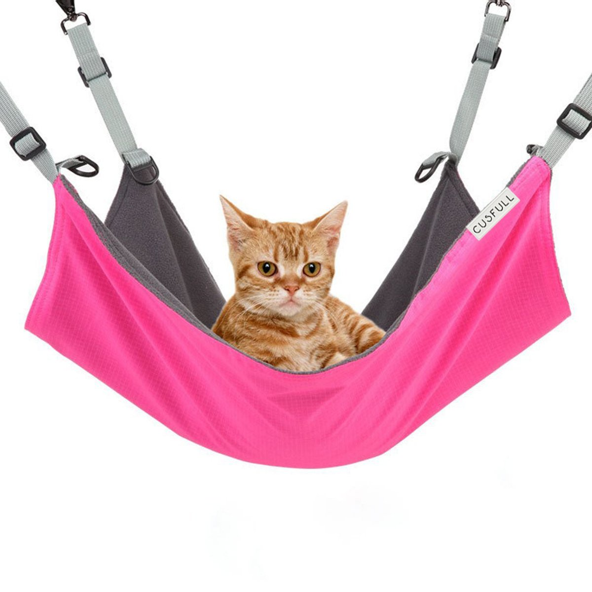 Cusfull Cat Hammock Bed Comfortable Hanging Pet Hammock Bed for Cats Small Dogs Rabbits Small Animals pink-Red