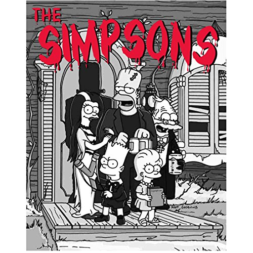 The Simpsons (TV Series 1989 - ) 8 inch by 10 inch) PHOTOGRAPH B&W Pic Halloween Show kn -