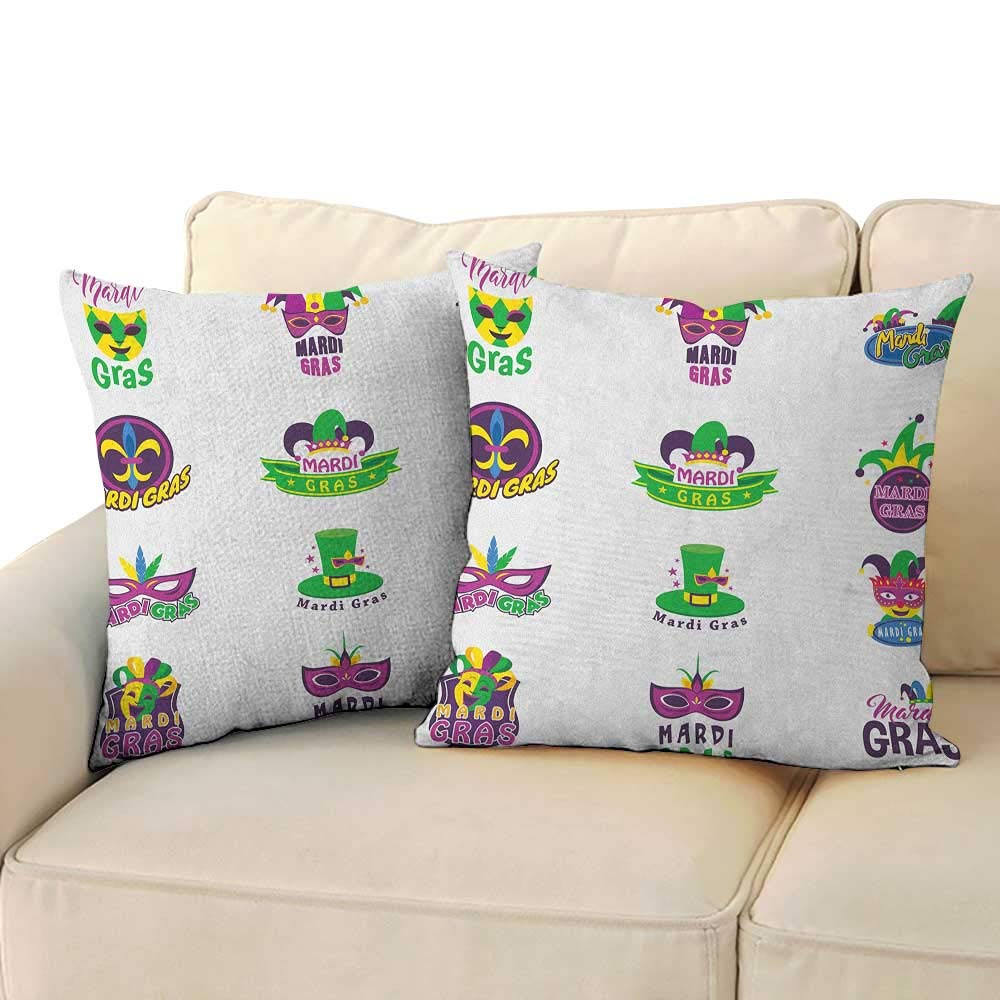 Amazon.com: Mardi Gras,Printed Pillow Case Happy Smiling ...