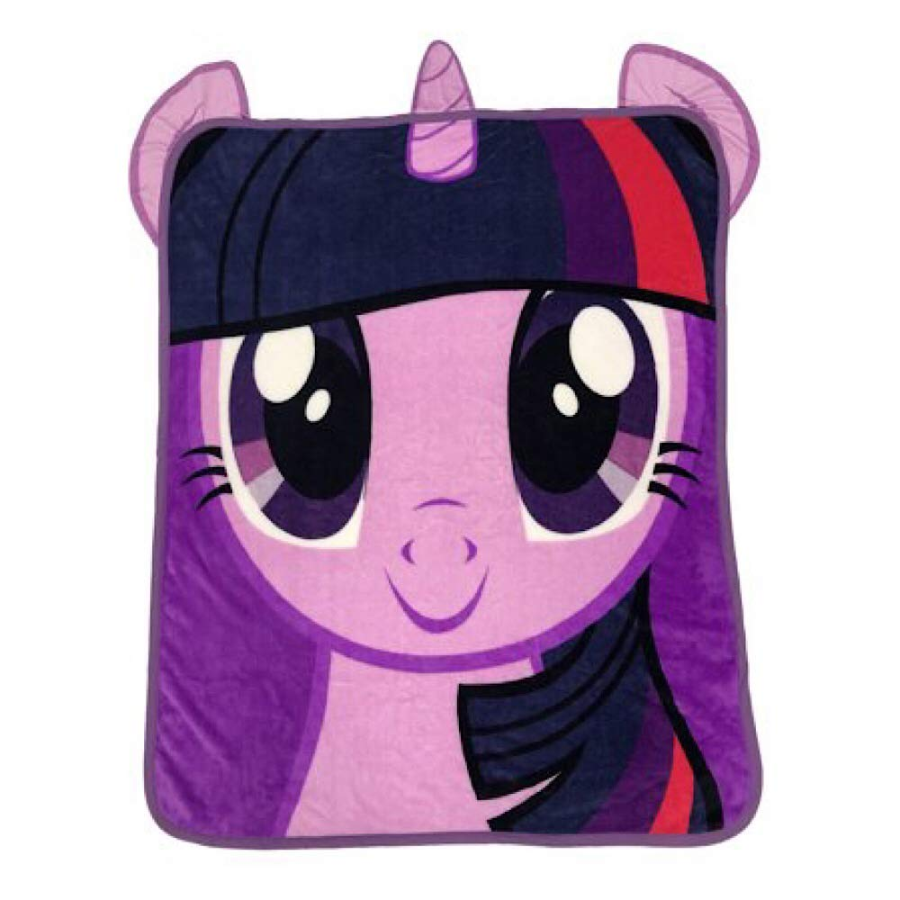 My Little Pony Kids Throw Blanket with Decorative Ears by Little Pony Kiids