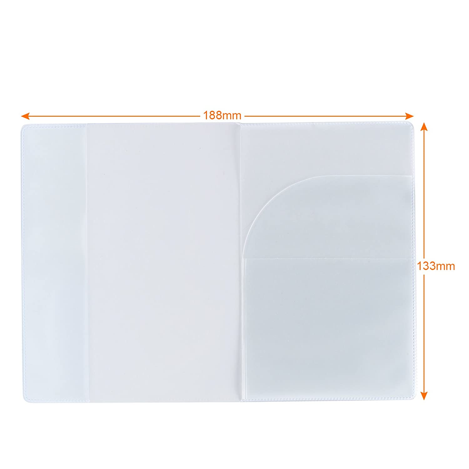 Pack of 5 Kesoto Passport Cover Protector Case Clear Plastic Vinyl ID Card Holder