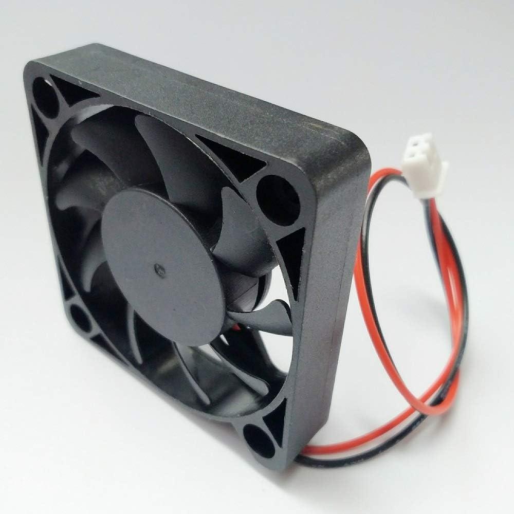 2 Packs 5010 50mm Fan Speed:7000RPM 50mmx50mmx10mm Dual Ball Bearing Computer Fan 3D Printer Fan Thermal Fan,12v DC 2pin UL Certified Long Life Cooling Fan