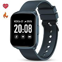 GOKOO Montre Connectée Femmes Homme Bracelet Connecté Fréquence Cardiaque Pression Artérielle Écran Tactile Smart Watch Sport Podomètre Calorie Fitness Tracker d'Activité pour Android iOS