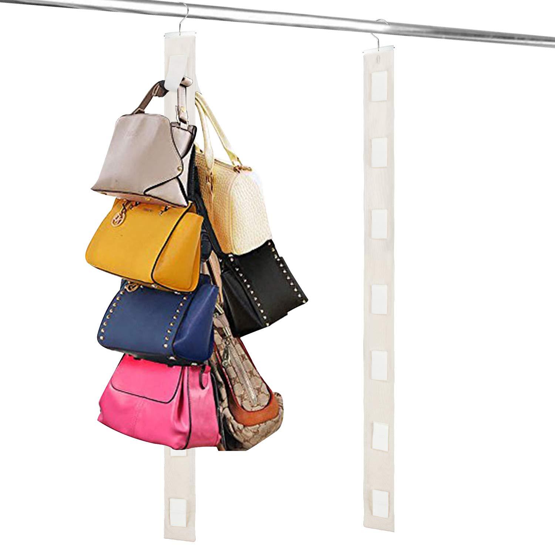 8 Pocket Bag Handbag Storage Holder Organizer Rack Hook Hang Wardrobe New