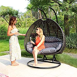 61UhWTSPPLL._SS300_ Hanging Wicker Swing Chairs & Hanging Rattan Chairs