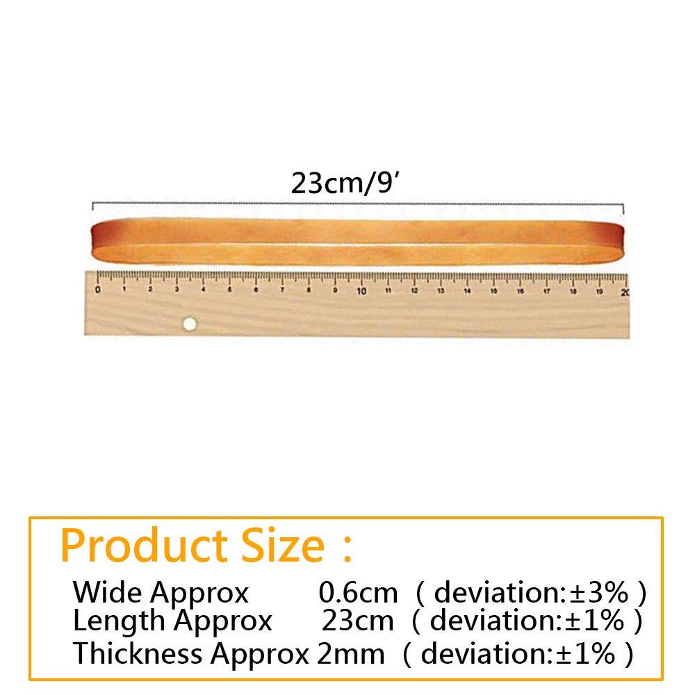 160/mm di Larghezza 6/mm Gomma Strong Elastici per Ufficio casa Lvcky 25PCS Grandi Fasce in Gomma Scuola Giallo Scuro