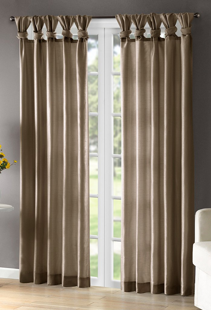 "Emilia Window Curtain Taupe 84"" Panel"