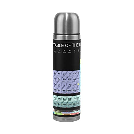 Amazon Lorvies Periodic Table Stainless Steel Thermos Water