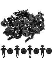 Etopars™ 100Pcs Black Plastic Push Type Rivet Retainer Fastener Bumper Pin Clips 6.3mm Car Vehicle