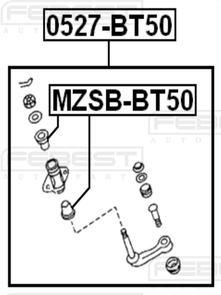 Bushing Idler Arm For Mazda Ub3932329 Febest