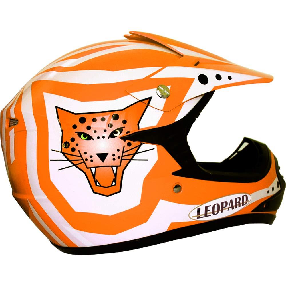 Leopard SET DEAL LEO-X17 Children Kids CUB Motocross Motorbike Helmet + Gloves + Goggles - Pink XL 55cm