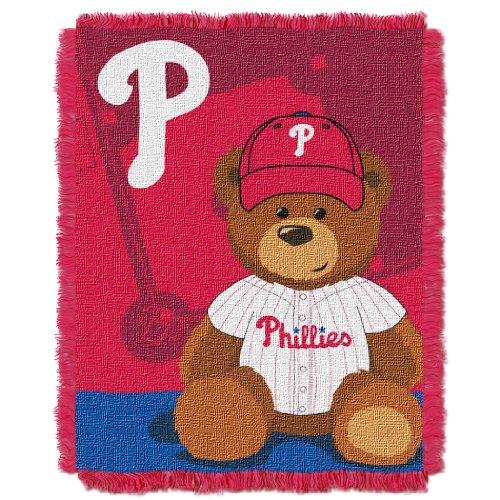 - The Northwest Company MLB Philadelphia Phillies Field Bear Woven Jacquard Baby Throw, 36
