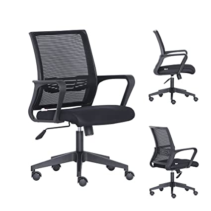 amazon com bonsaii mid back ergonomic mesh computer office desk