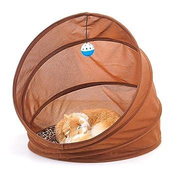 BOENTA Cama Plegable Tipo túnel para Gatos Cama portátil para Dormir Juego para Jugar a los Tubos interactivos del túnel del Juego Juego de Bolas: ...