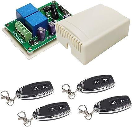 DC12V One-Clé Porte RF Télécommande porte de garage Transmetteur Sans Fil 315//433MHz