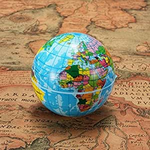 Amazoncom Mm World Map Foam Earth Globe Geography Ball Toys - A picture of the world map